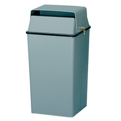 locking secure document bin for confidential waste trash