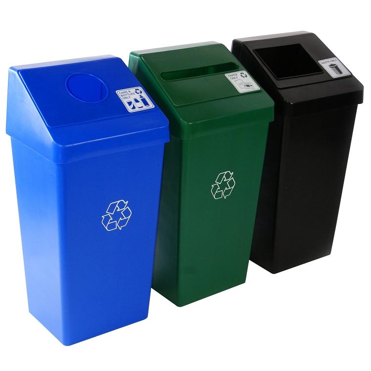 smart sort 22 gallon trash cans warehouse. Black Bedroom Furniture Sets. Home Design Ideas