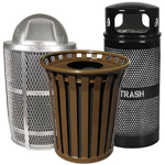 Metal Trash Cans for Outdoor