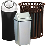 Metal Trash Cans