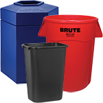Plastic Trash Cans for Outdoors
