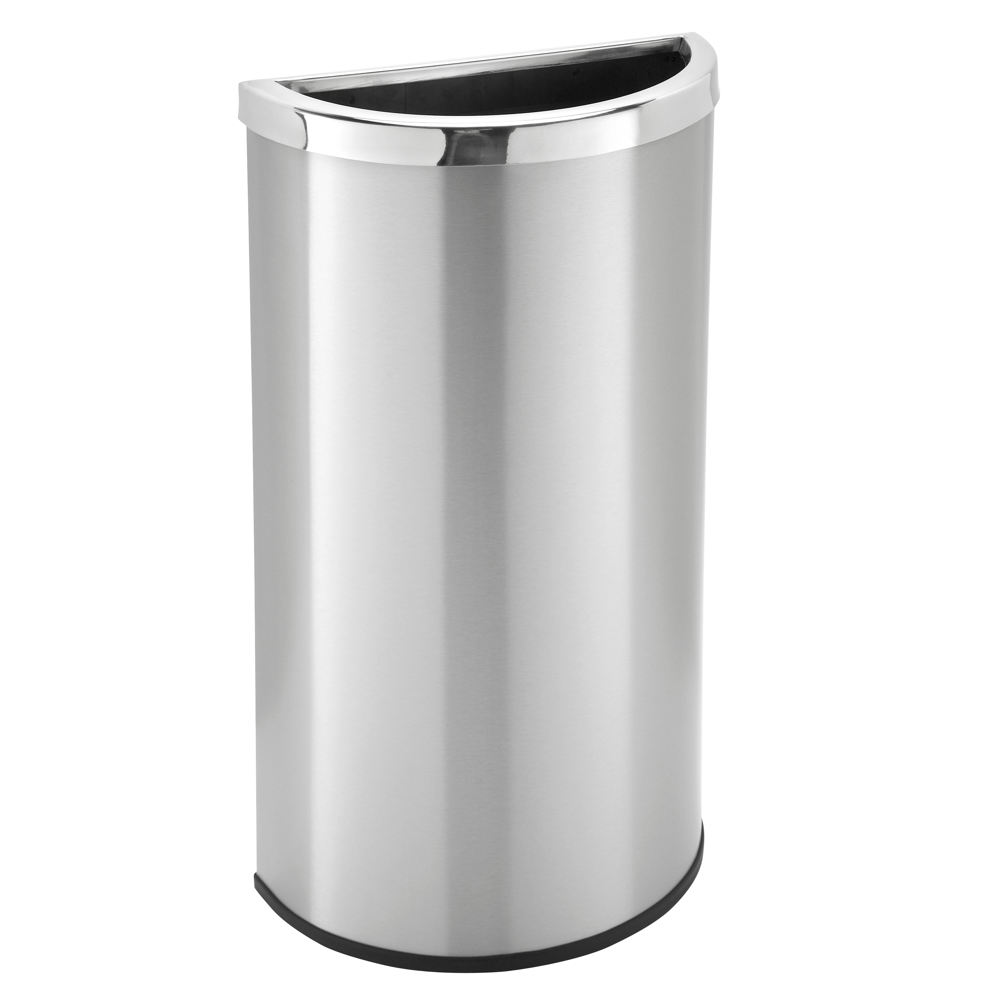 8 Gallon Stainless Steel Half Round Garbage Can Trash