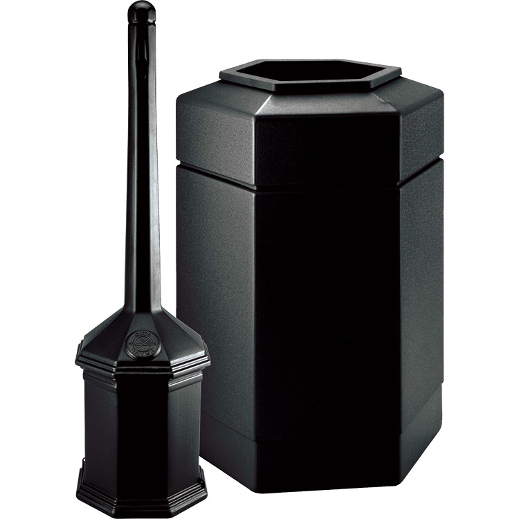 Trash can cigarette receptacle combo trashcans warehouse - Commercial bathroom waste receptacles ...