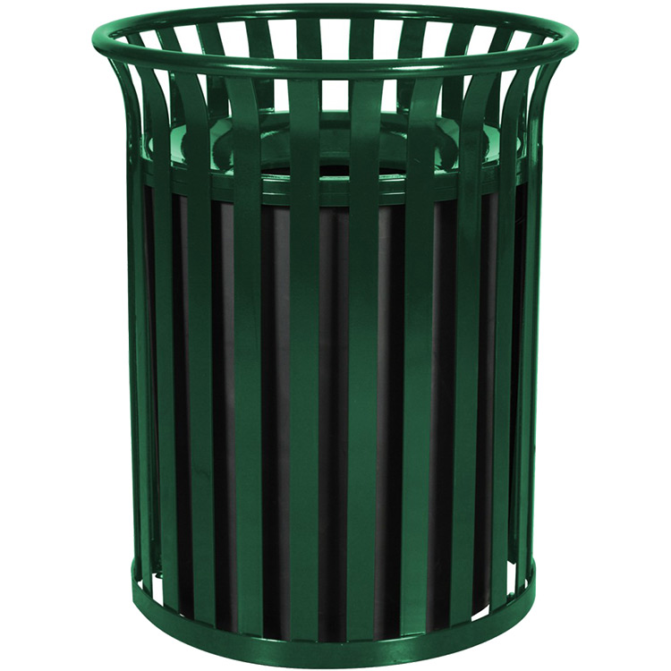 Outdoor Steel Garbage Receptacle Park Trash Containers