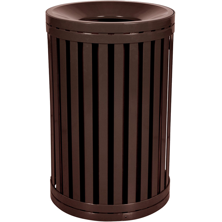 modern garbage can funnel top trash can exterior trash cans. Black Bedroom Furniture Sets. Home Design Ideas