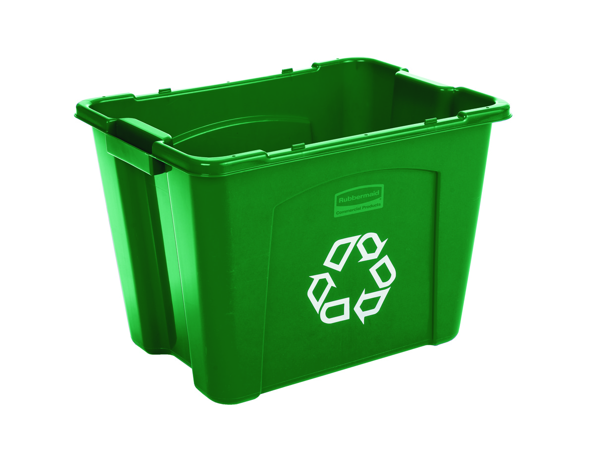rubbermaid 14 gallon curbside outdoor recycling bins for sale 5714 73 trash cans warehouse. Black Bedroom Furniture Sets. Home Design Ideas