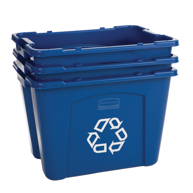 rubbermaid 14gallon curbside outdoor recycling bins for