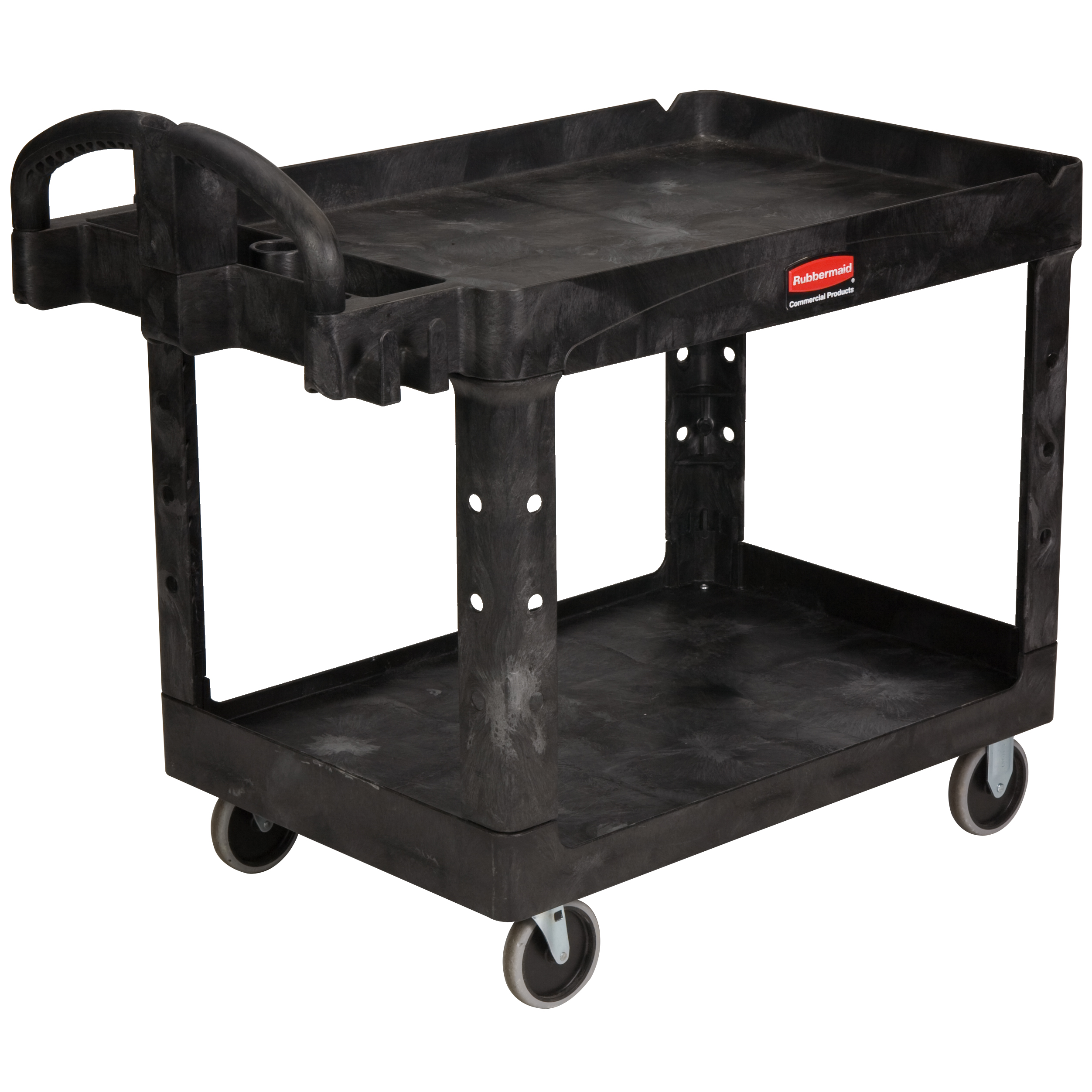 Large 2 Shelf Utility Cart With 5 Quot Tpr Casters By