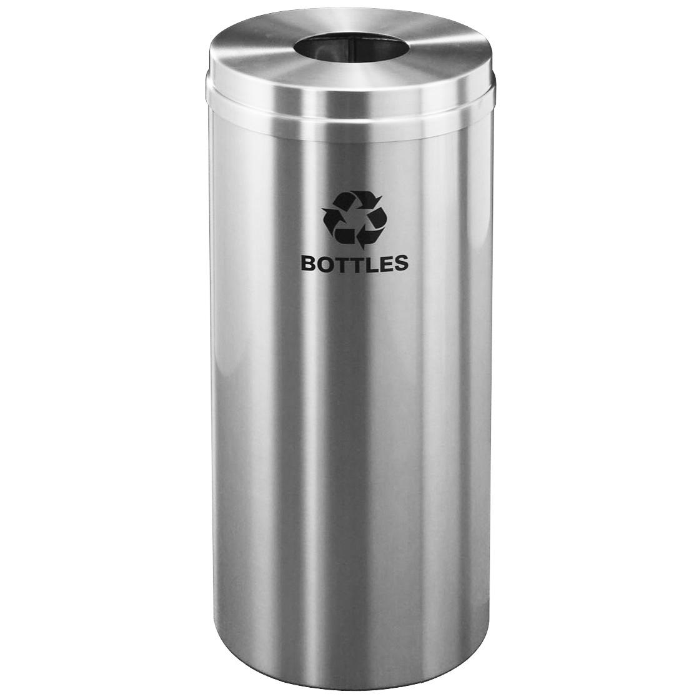 Aluminium Trash Cans : Brushed aluminum trash can