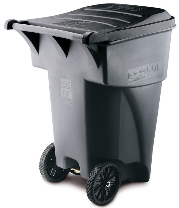 95 Gallon Trash Can Heavy Duty Wheeled Trash Can Trash