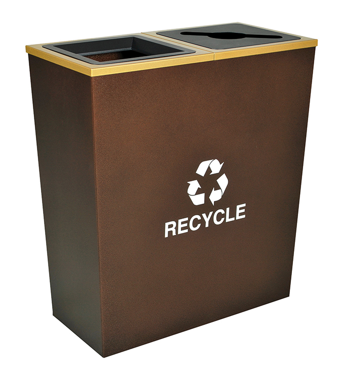 metro double stream waste recycling container trash can warehouse. Black Bedroom Furniture Sets. Home Design Ideas