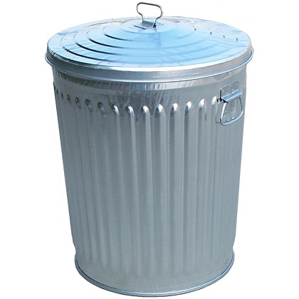 24 Gallon Galvanized Steel Trash Can W Lid Trash Cans