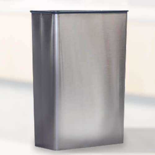 Rectangular Stainless Steel Trash Can Trashcans Warehouse