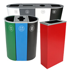 Spectrum Collection Commercial Indoor Trash Cans  Recycling Bins