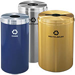 Glaro Single Purpose Waste and Recycling Containers
