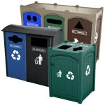 Plastic Lumber Trash Containers