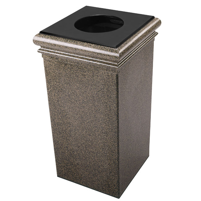 30 gallon square trash can decorative garbage can. Black Bedroom Furniture Sets. Home Design Ideas