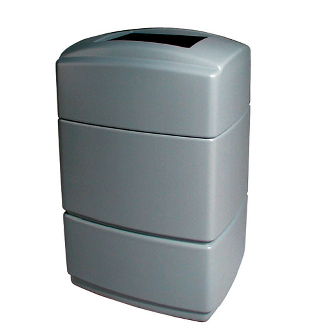 40 gallon rectangular plastic trash can trash cans warehouse - Rectangular garbage cans ...