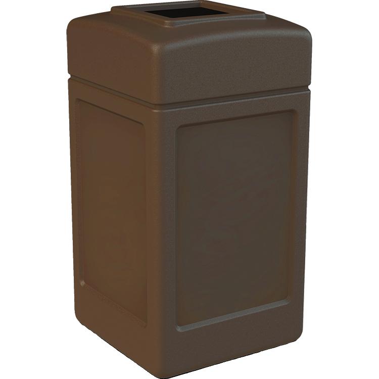 PolyTec 42 Gallon Square Waste Container