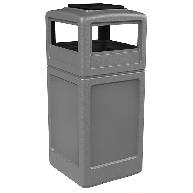 Outdoor Trash Can With Dome Lid Plastic Trash Bin