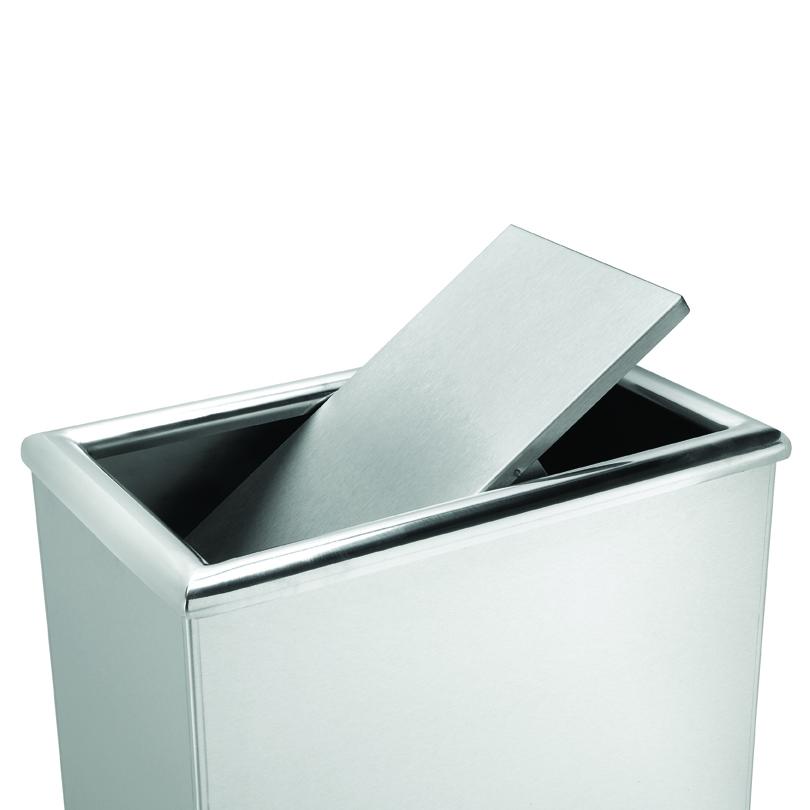 Rectangular Garbage Can Stainless Steel Interior Design