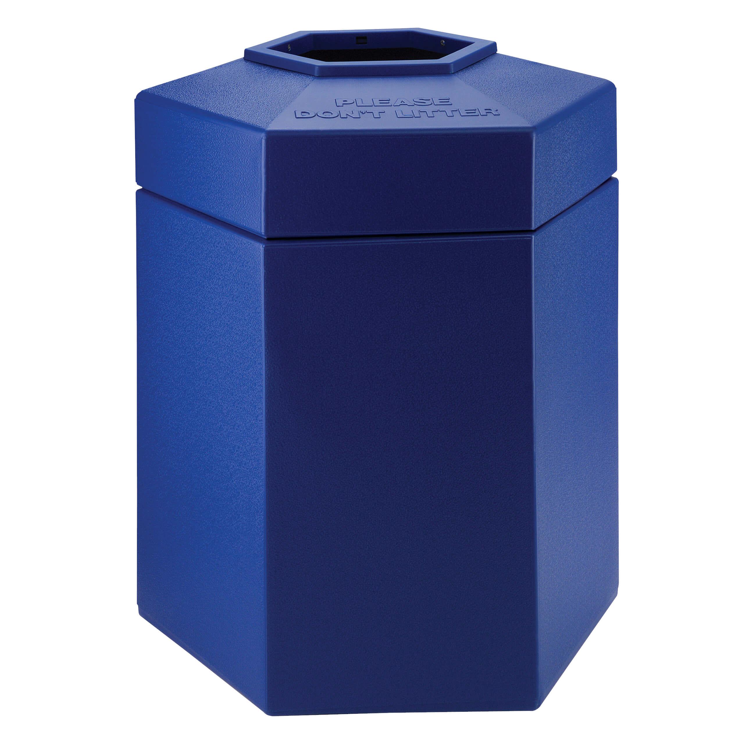 Hex 45 Gallon Trash Container