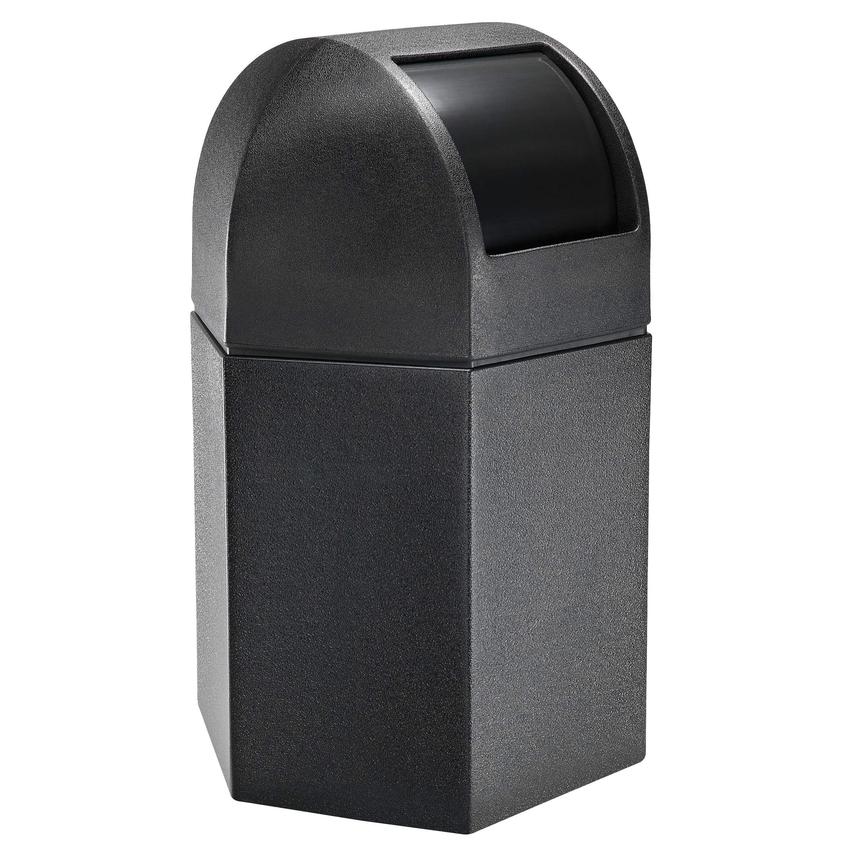 Hex 45 Gallon Trash Container W Dome Lid Trash Cans