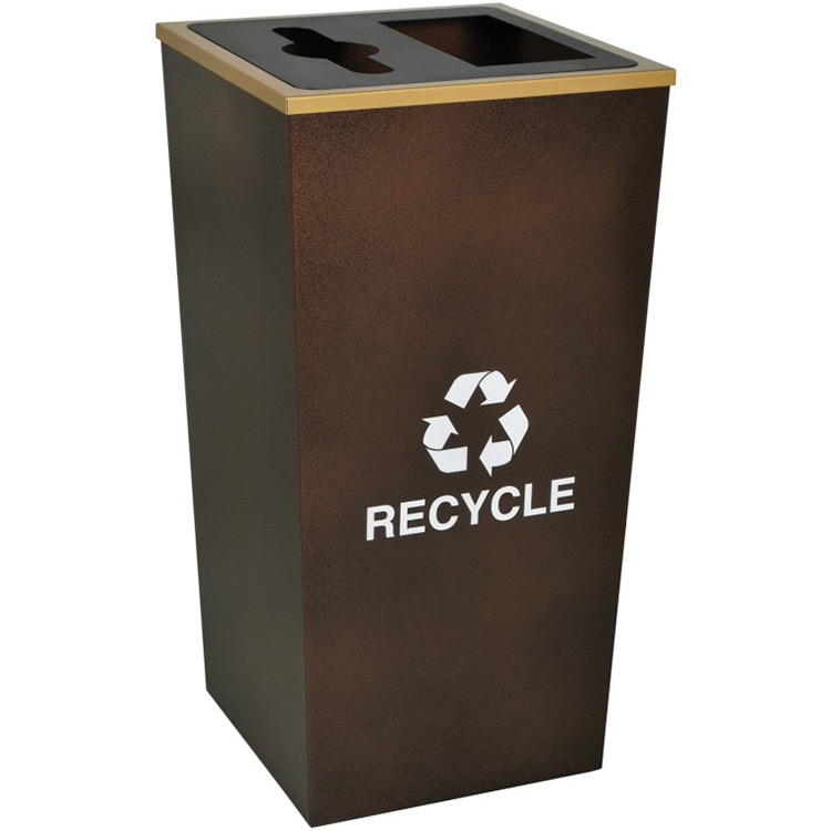 metro xl combo waste recycling container trash can warehouse. Black Bedroom Furniture Sets. Home Design Ideas