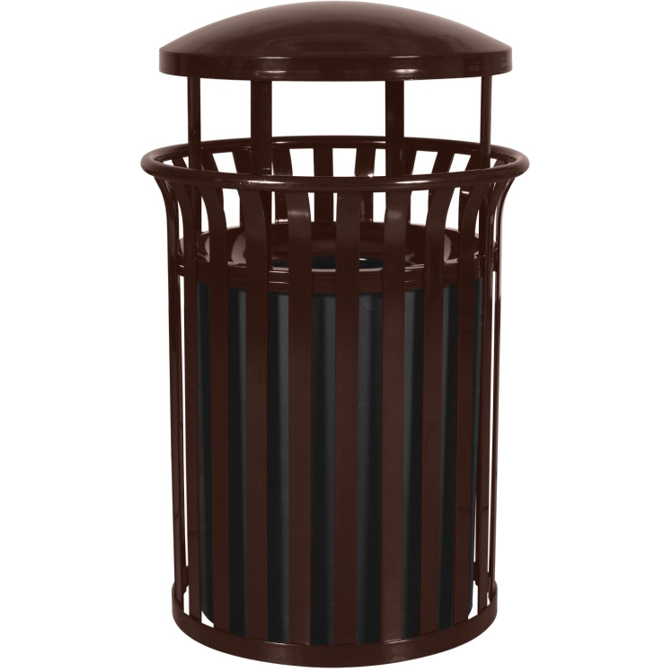 33 5 gallon steel garbage container outdoor waste cans. Black Bedroom Furniture Sets. Home Design Ideas