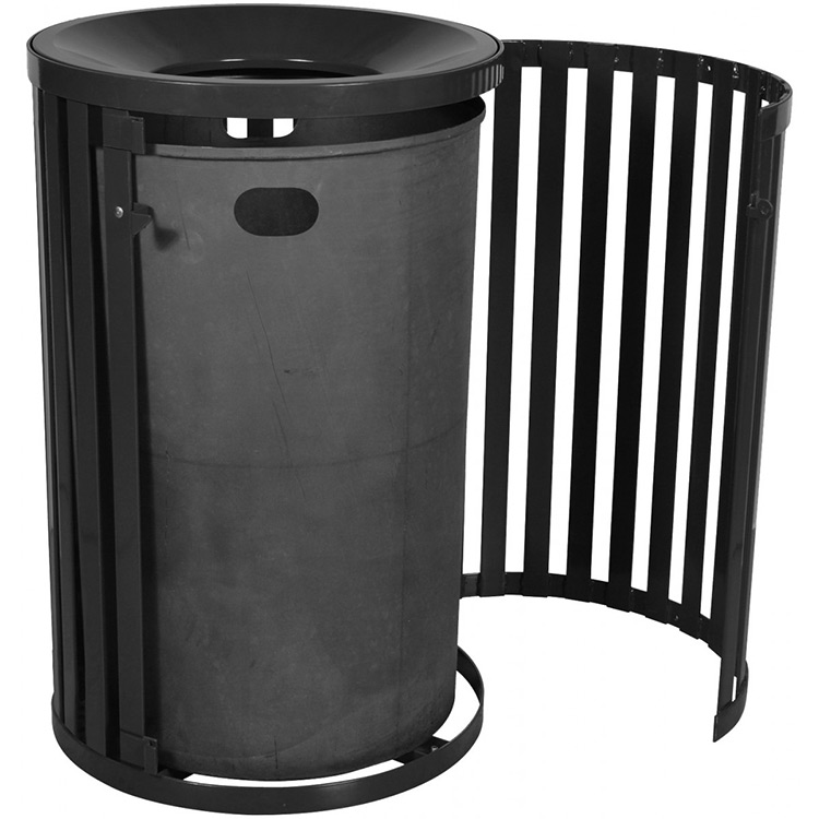 outdoor waste receptacles canada heavy duty steel gallon trash receptacle  funnel top door garbage cans walmart. outdoor trash can   massagroup co