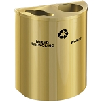 Glaro Dual-Stream XL Half-Round Satin Brass Recycling Barrel