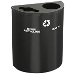 XL Dual-Purpose Glaro Half-Round Custom Color Recycling Barrel