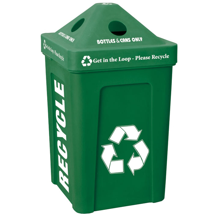 2 x 48 = 96 Gallon | Recycle Bin I Outdoor Station | Trash Cans ...