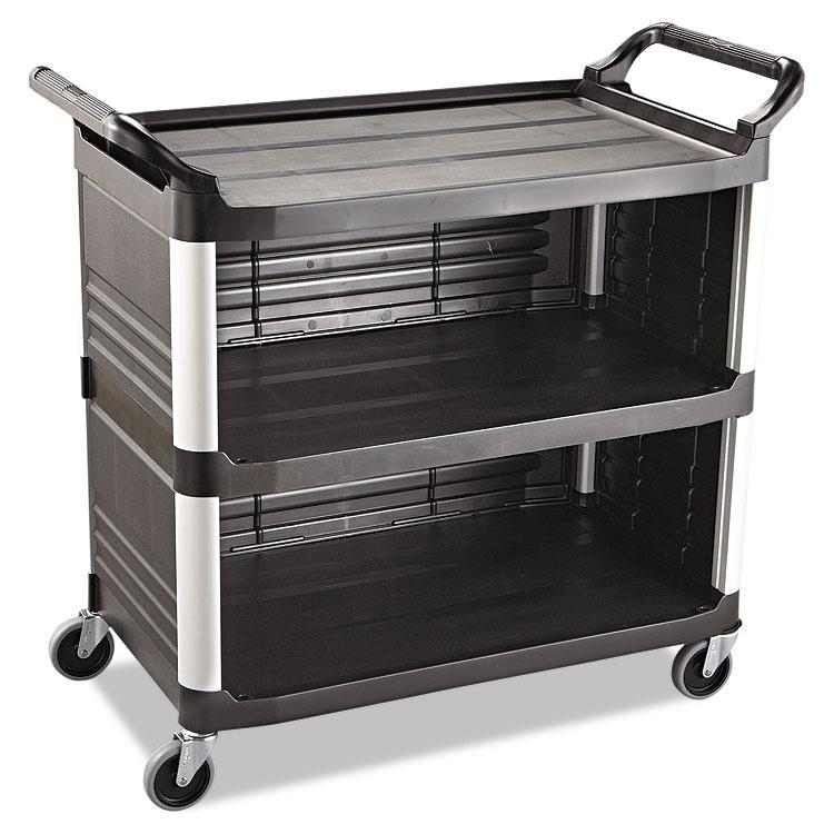 Black Rubbermaid Xtra Utility Cart W 3 Shelves Amp 300lb