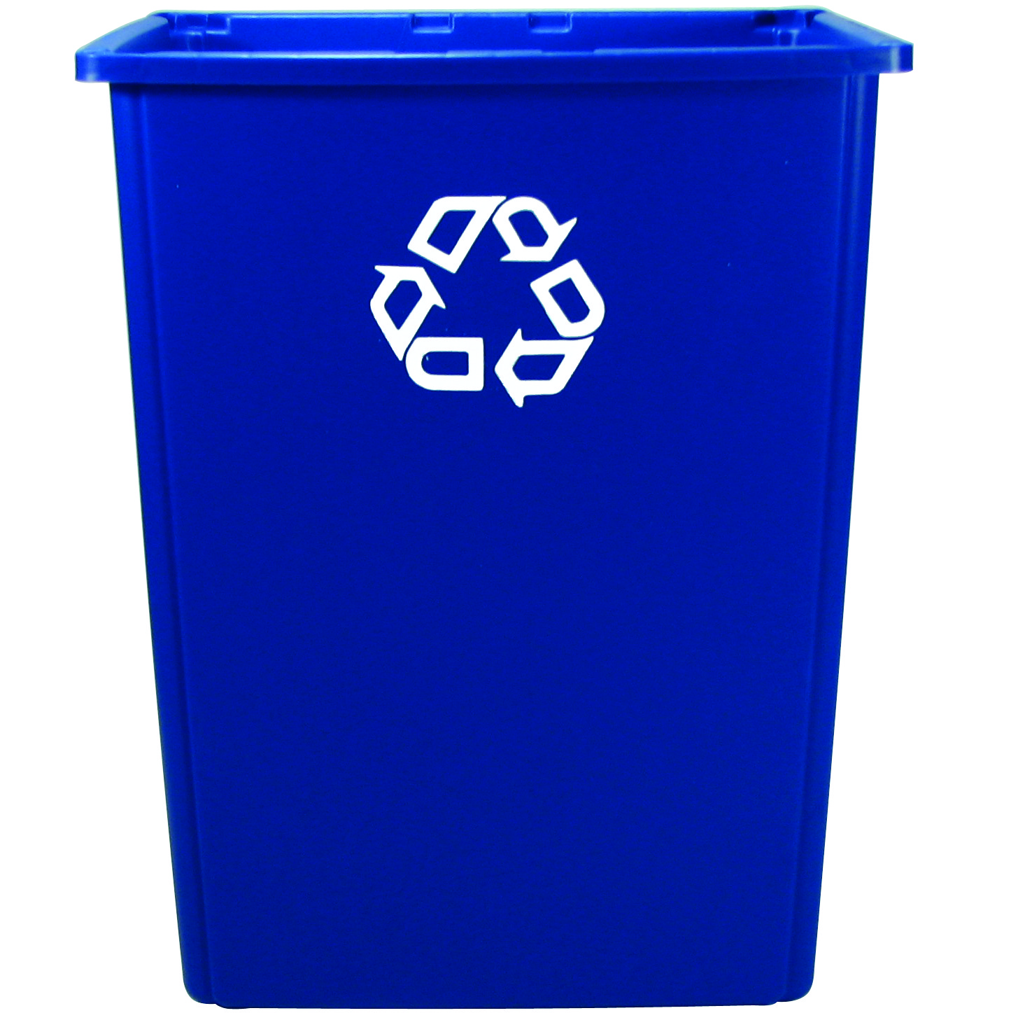 56-Gallon Rubbermaid Glutton Rectangular Recycling Container, Blue ...