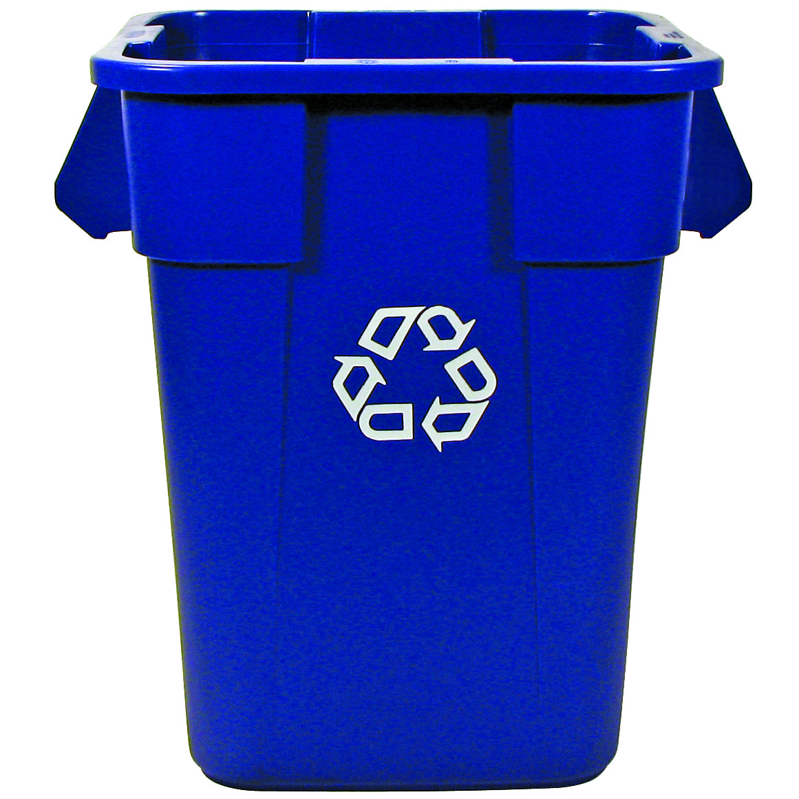 Rubbermaid 40 gallon brute square blue recycling container 3536 73 trash cans warehouse - Recycle containers for home use ...