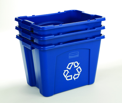 rubbermaid 14 gallon curbside outdoor recycling bins for sale 5714 73. Black Bedroom Furniture Sets. Home Design Ideas
