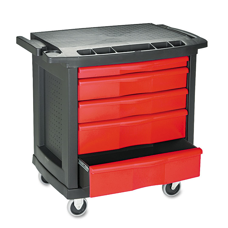 5 Drawer Mobile Work Center p 1716 on rolling utility cart with drawers