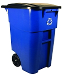50-Gallon BRUTE Recycling Rollout Container