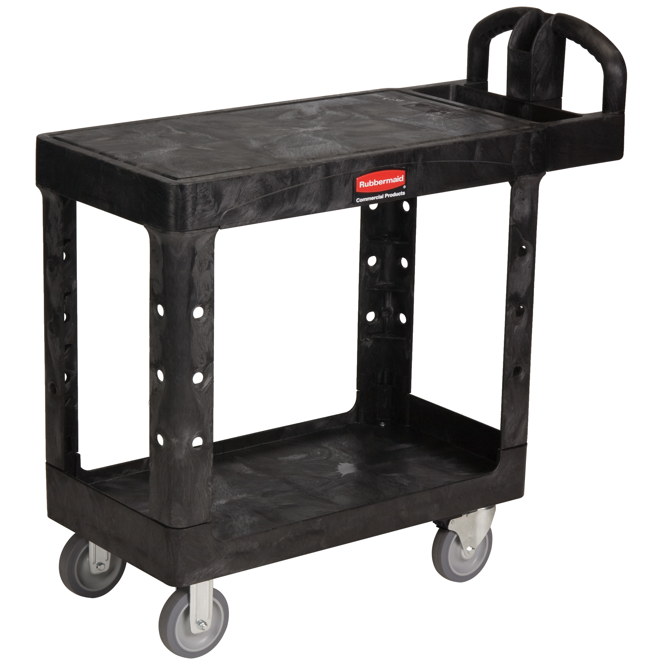 Small Heavy-Duty Flat-Shelf Utility Cart with 5\
