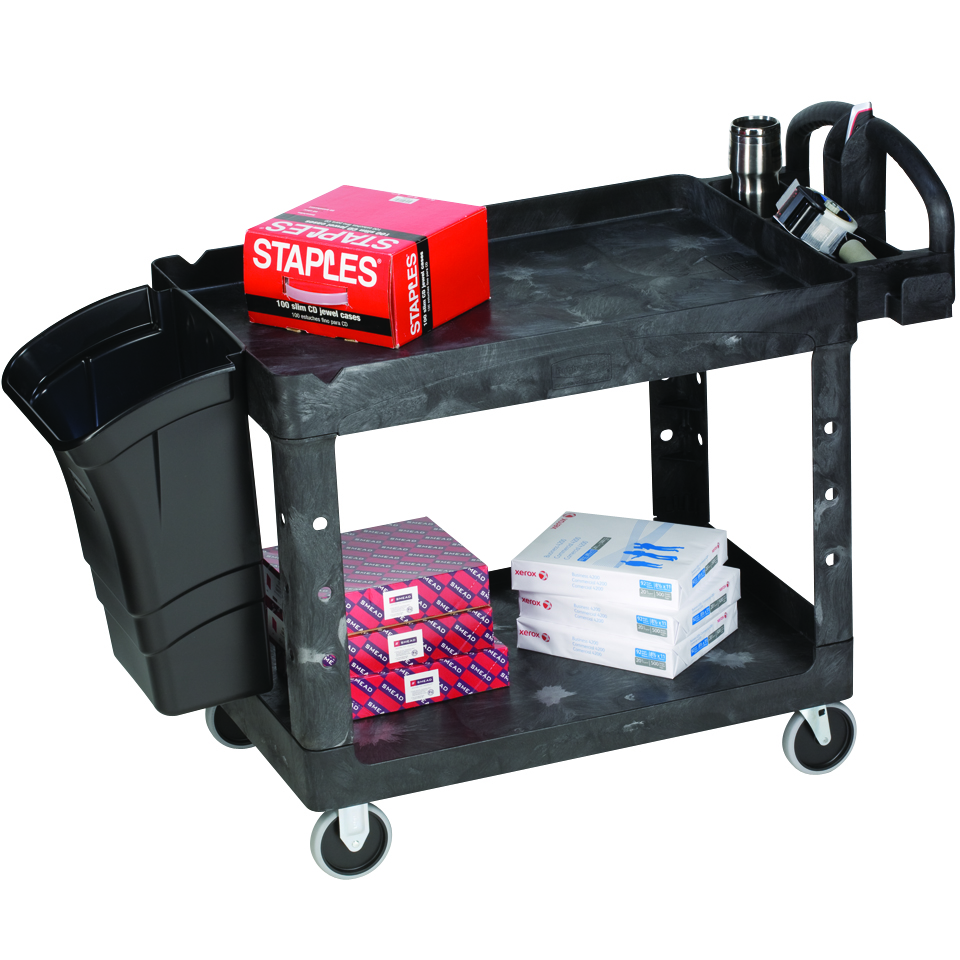 Large 2-Shelf Utility Cart with 5\