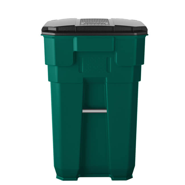 65 Gallon Plastic Wheeled Trash Can Trash Cans Warehouse