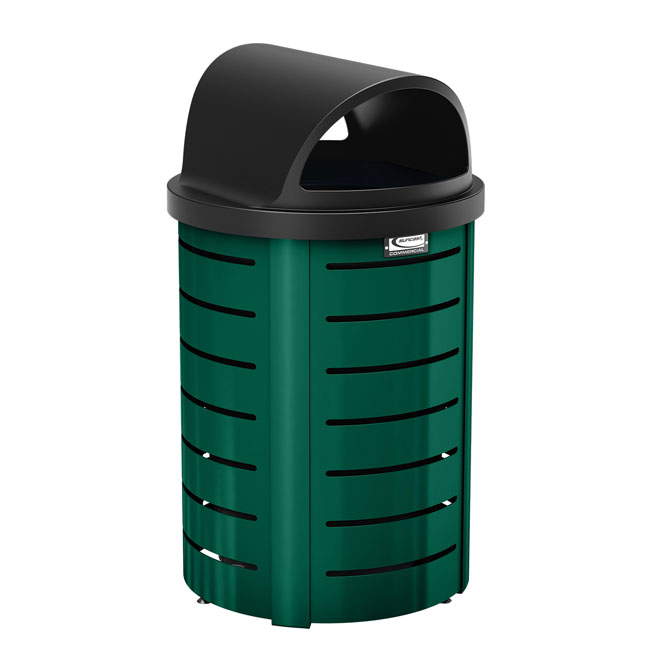 35 Gal Metal Trash Can With Roto Molded Lid Trash Cans Warehouse