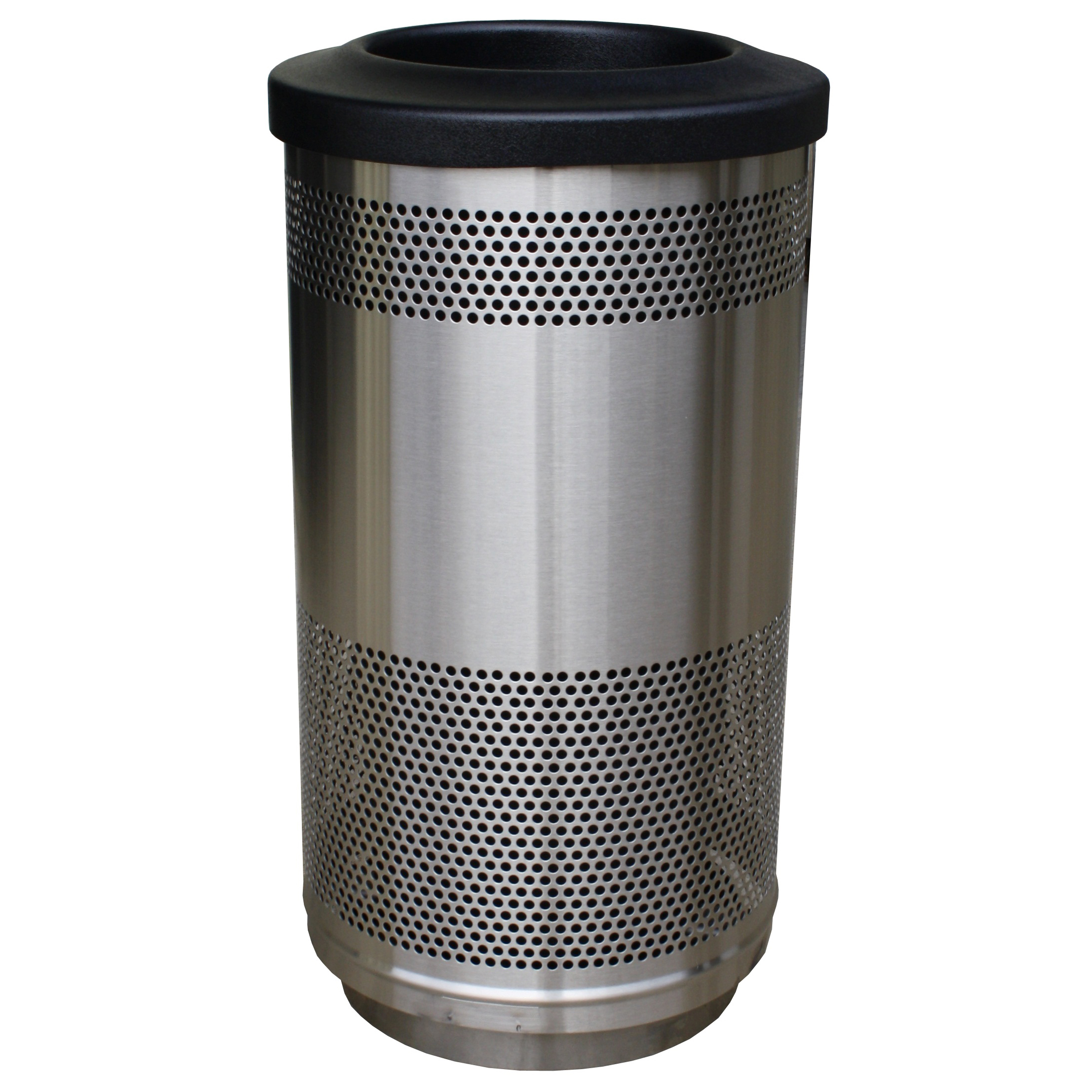Aluminium Garbage Cans : Perforated steel waste basket gallon metal trash can