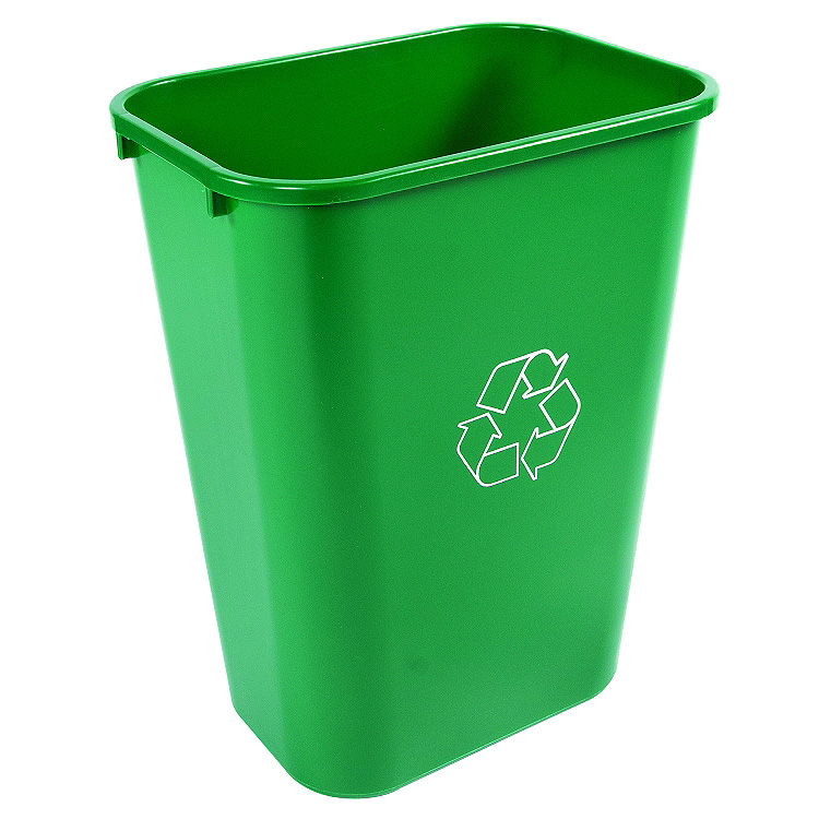 Waste Basket small plastic trash can | office wastebasket | office bins | trash