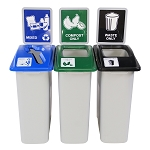 Small Simple Sort Three-Stream Recycling Station