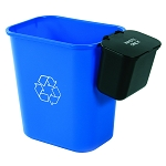 28-Quart Recycling Basket with Hanging Waste Basket