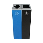 Spectrum Two-Stream Double Slim Cube Recycling & Waste Station