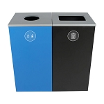 Spectrum Two-Stream Double Cube Recycling & Waste Station