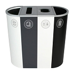 Spectrum Four-Stream Slim Recycling & Waste Station